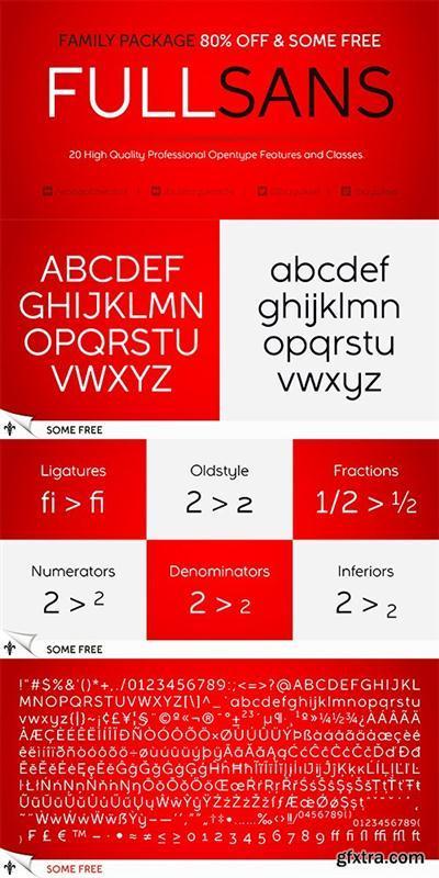 Full Sans Font Family - 20 FontsTTF